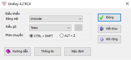 Cài đặt phần mềm gõ tiếng việt Unikey chuẩn