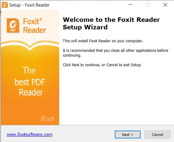 Hướng dẫn cài đặt FoxitReader